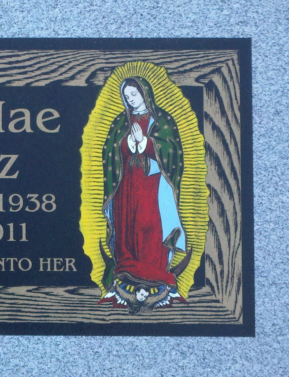 BronzStone Lady of Guadalupe_close-up