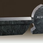 "A bench style memorial labeled ""Alvord"""